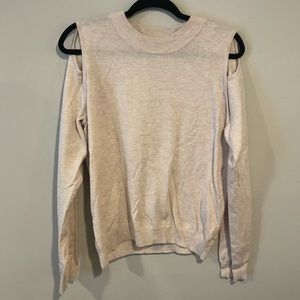 Light Pink Cut Out Sweater